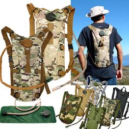 2L Hydration System Survival Water Bag Pouch Backpack Bladde