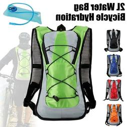 2L Water Bag with Bladder Hydration Backpack Hiking Camping