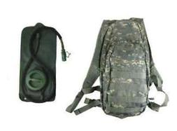 Camo Hydration Bladder Day Pack Backpack Hiking Running