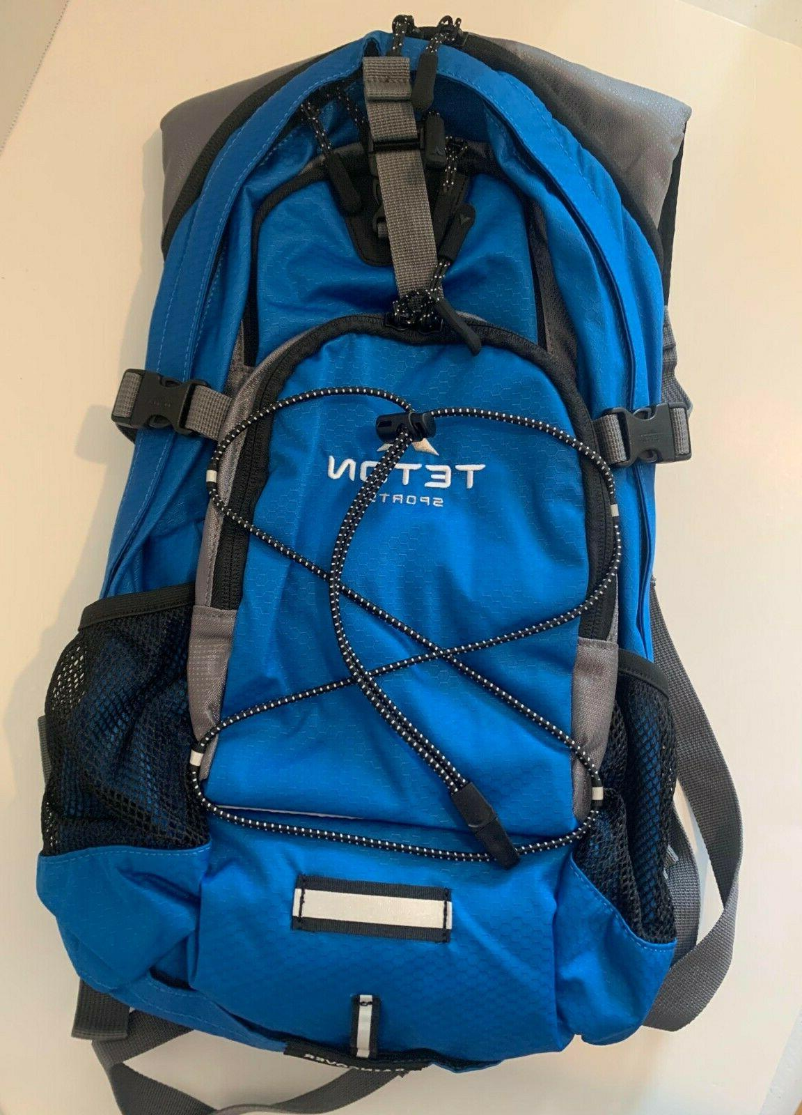 new without tags hydration backpack backpacking blue