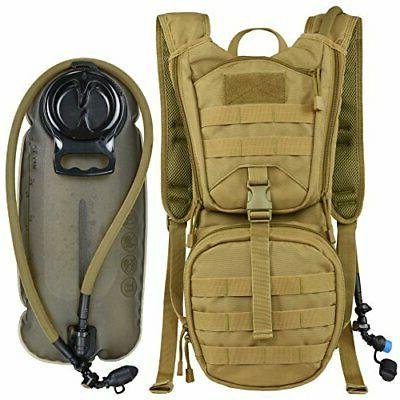 Tactical Molle Hydration Pack Backpack with 3L TPU Water Bla