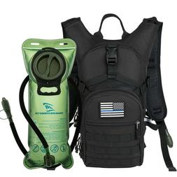 Military Tactical Backpack Hydration Pack With 2L Water Blad