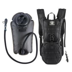 Tactical Hydration Pack Water Backpack with 3L Bladder Milit