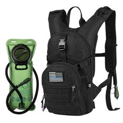 Military tactical hydration backpack With 2L Water Bladder B