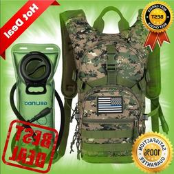 Military Tactical Hydration Backpack with 2L Water Bladder L