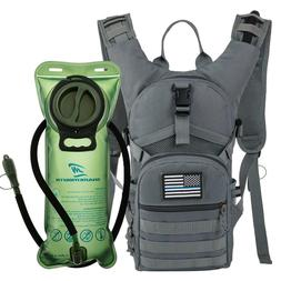 MOLLE Military Tactical Hydration Backpack With 2L Water Bla