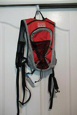 NEW COLEMAN MAX RED HYDRATION PACK HIKING CYCLING BACKPACK W