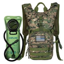 Tactical Hydration Pack Backpack with 2L Water Bladder Outdo